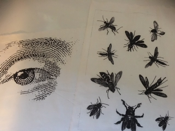 photocopy on fabric